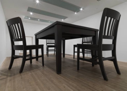 (Table and Four Chairs) 2003 Robert Therrien born 1947 ARTIST ROOMS  Acquired jointly with the National Galleries of Scotland through The d'Offay Donation with assistance from the National Heritage Memorial Fund and the Art Fund 2008 http://www.tate.org.uk/art/work/AR00166