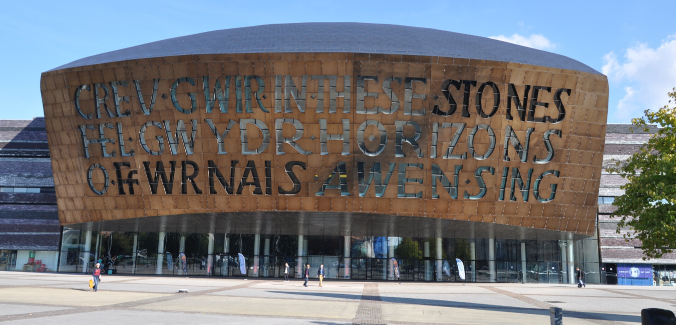 The exterior of Wales Millennium Centre